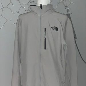 North face zip up spandex shell